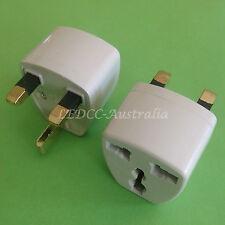 AU to UK IRELAND HK MALAYSIA SINGAPORE Power Plug Travel Adapter Converter 2pc