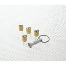 Richbrook Gold Spinning Car Valve Caps - Anti Theft - Set Of 4 - Free Post