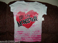 Monster High Be my Monster T-shirt Size M Girl's NEW FREE USA SHIPPING