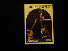 LaSALLE THOMPSON 1989-90 NBA HOOPS SIGNED AUTOGRAPHED CARD #281 PACERS