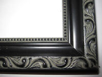 Black English Victorian Ornate Wood Picture Frames-Custom Made Standard Sizes
