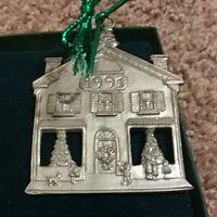 Vintage 1991, Seagull Pewter, House Christmas Scene, Christmas Ornament