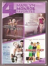 4 Marilyn Monroe Favorites DVD Movie Gentleman Prefer Blondes + 3 BRAND NEW