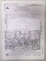 Vintage Sams Photofact Folder Radio Parts Manual Bradford Models 1205A43 1205B43