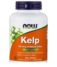 Kelp 150mcg 200 Tablets Supports Healthy Thyroid Fuction Now Foods Free Shipping