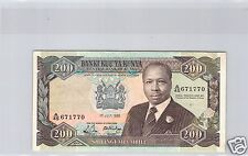 KENYA 200 SHILLINGS 1988 N° 671770 PICK 23A C QUALITE !!!!