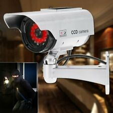 Dummy Security Camera - Security Deterrent - Solar Powered Ring Red Power Lights
