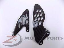 2007 2008 Yamaha R1 Rearset Foot Peg Mount Heel Guard Plates Carbon Fiber