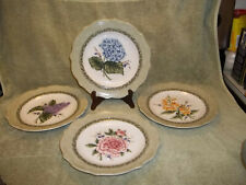 "Princess House Exclusive Vintage Garden 9"" Floral Luncheon Plates Set of 4"