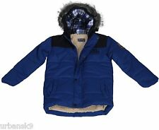 Boys PREMIUM QUALITY Blue Coat with Fleece Lining Ages 3 4 5 7 8 9 10 Years