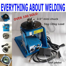 110v 10kg Rotary Welding Positioner Turntable Table Mini 25 3 Jaw Lathe Chuck