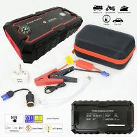 Portable Car Jump Starter Battery Charger Dual USB Port Power Bank DIY 22000mAh