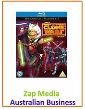 Star Wars The Clone Wars Season 1 to 5 Blu-ray UK BLURAY
