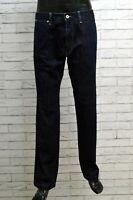 Jeans Uomo Hugo Boss Taglia 50 Pantaloni Pants Man Blue Jeans Denim Gamba Dritta
