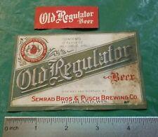 Pre Pro Old Regulator Beer Label, Semrad Bros & Pusch Brewing, Highland, Wi T