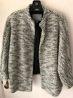 Classiques Entier Textured Jacket Shades Of Gray SZ M/L Worn Two Times