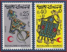 1971 MAROC N°616/617** Croissant Rouge, 1971 MOROCCO Moroccan Red Crescent MNH