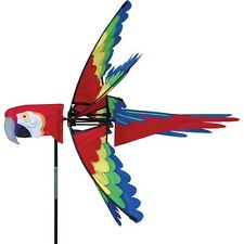 "Premier Kite's  27"" Scarlet Macaw Spinner -  Yard Decor"