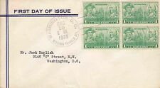 US FDC Sc # 790 block of 4 , United State Navy Heroes w/cachet- US 8185