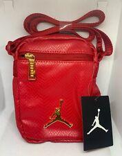 Nike Air Jordan Premium Leather Red Nike Shoulder Crossbody Bag New