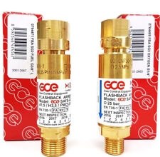 Rückschlagsicherung Explosionsschutz Sicherung Brenngas Sauerstoff Set GCE Rhöna