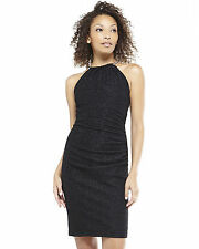 New Eliza J Gold Chain Black And Gold Halter Dress Size 10