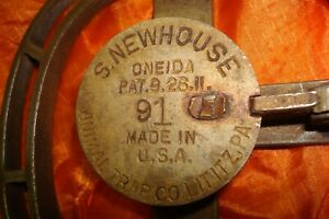 Rare #91 Newhouse trap, with the 9 hand stamped in, Trapping