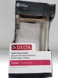 Delta Trinsic Single Post Toilet Paper Holder in Champagne Bronze