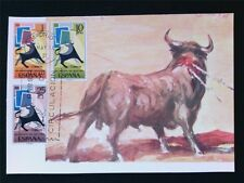 SPAIN MK 1965 STIER BULL TORO TOROS MAXIMUMKARTE CARTE MAXIMUM CARD MC CM c5391
