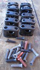 10 St Schrauben Bakelitschellen Aufputzschellen Kabelschellen Neu DDR 8-18 mm