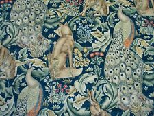 "William Morris Vorhang Fabric ""Forest Samt"" 2.2 Meter Azurblau DARP 222643"