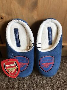 Arsenal Football Club Blue and Red Soft Slippers Size UK 3