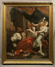 17th Century Religious Oil Painting Signed by Gianbatista Pitoni 1687 1767