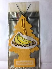 1 BANANA NUT Scented Little Tree Car Air Freshener In A Individually Sealed Pak