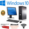 DELL/HP/LENOVO DUAL CORE DESKTOP TOWER PC & TFT COMPUTER WINDOWS 10,4GB,250GB
