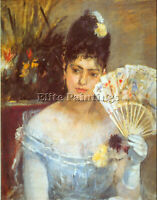 AT THE BALL BY MORISOT 2 ARTIST PAINTING HANDMADE OIL CANVAS REPRO WALL ART DECO
