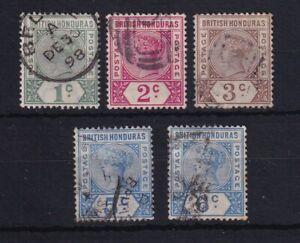 BRITISH HONDURAS 1891-1901 QV Group as Scan USED