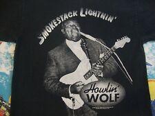 Vintage 90's HOWLIN' WOLF 1993 Smokestack Lightnin Blues Guitar Legend T Shirt M