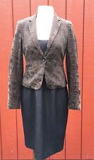 EXPRESS DESIGN STUDIO Blazer Suit Jacket Sz 4  Business Career Casual Textured