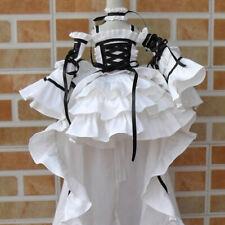 """1/3 BJD SD Asymmetric Tail Dress Ruffle (White) - 22"""" BJD Doll Clothes Outfit"""