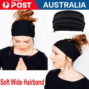 AU Running Soft Wide Hairband Yoga Elastic Stretch Headband Turban Head Wrap