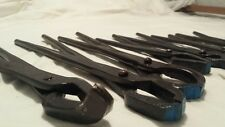 10 Blacksmith farrier forge tongs nippers Hand forged Free Shiping USA