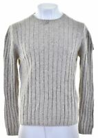 MARLBORO CLASSICS Mens Crew Neck Jumper Sweater Large Grey Wool HP07