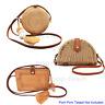 Straw Rattan Crossbody Bag Woven Wicker Purse Handbag Summer Beach Shoulder Bag