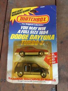 1983 Matchbox INSTANT WINNER GAME Dodge Daytona & Caravan Made in England