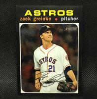 #/999! 2020 Topps Heritage Chrome Zack Grienke #149