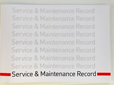 MITSUBISHI Service Book  New Unstamped History Maintenance Record - BLANK