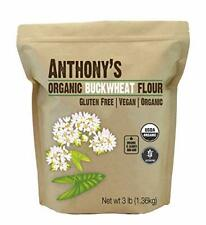 Anthony's Organic Buckwheat Flour 3lbs Grown in USA Gluten Free Vegan