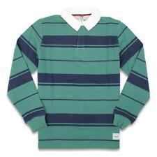 Herschel Mens Rugby Polo L/S Shirt Green M New