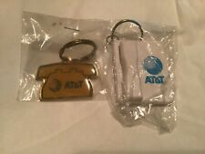 Lot of 2 AT&T Vintage Land Line Telephone KEYCHAINS In Package! MINT